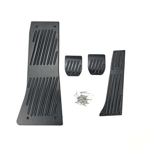 Fit for BMW X5 X6 E53 E70 E71 E72 F15 F16 Gas-Kraftstoff-Brems Fußraste Auto-Pedal (Color Name : Drill MT 4pcs Black)