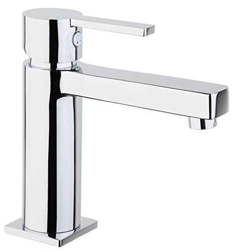 Rubinetto lavabo Miscelatore monocomando Cromo Con Asta per scarico, DVGW + svgw certificazione