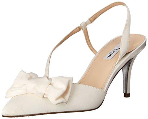 NINA Damen Teddi Kleid Pumps, Weiß (elfenbeinfarben), 38 EU