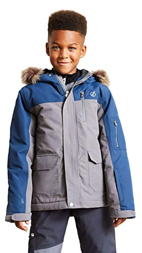 Dare 2b Boys' Furtive Waterproof and Breathable High Loft Insulated Parka Style Ski and Snowboard Jacket With Removable…