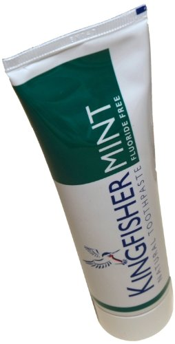 Mint Fluoride Free Toothpaste (100ml) - x 4 Units Deal by KINGFISHER