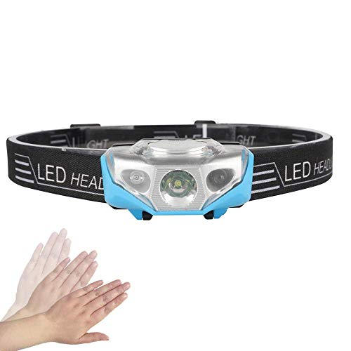 LED Headlamp for Kids, USB Rechargeable 4 Modes LED Head Lamp Flashlight with Motion Sensor, Adjustable Headband Light for Cycling Fishing Camping Hiking Running, Outdoor Emergency Light