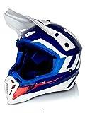 Casco Mx Ufo Quiver Ontake Azul Blanco Rojo (L 59-60Cm, Azul)