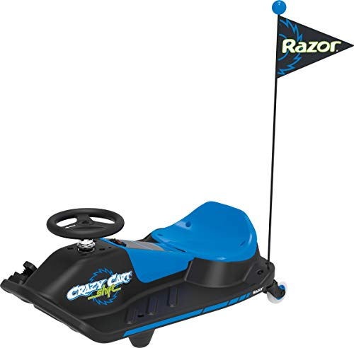 Razor Crazy Cart Shift - 12V Electric Drifting Go Kart for Kids - New High/Low Speed Switch and Simplified Drifting System