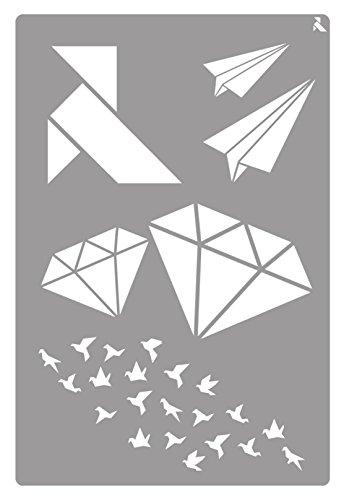 Plantilla Stencil St-22 Origami 20X30 CM La Pajarita 090022C Especial Para Chalk Paint y Pintura Tela