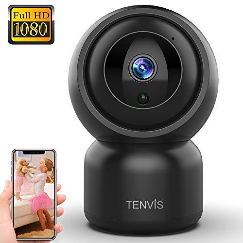 TENVIS Telecamera di sorveglianza, Telecamera IP Visione Notturna e Audio Bidirezionale Interno Microfono,Telecamera WI-FI impermeabile IP66