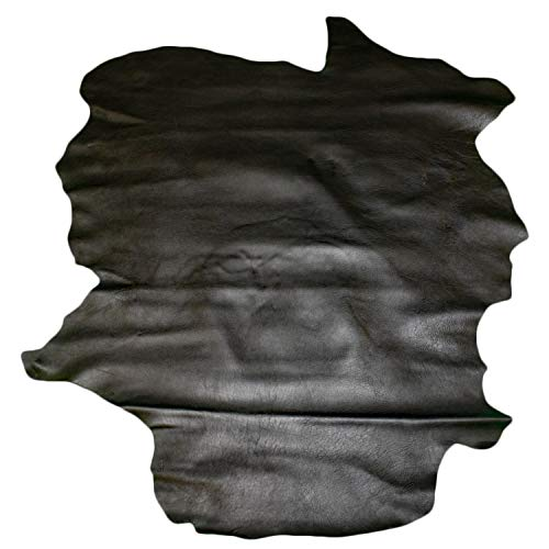 Glacier Wear Select Italian Goat Leather Hide Skin (7 to 7.75 sq ft) - Black