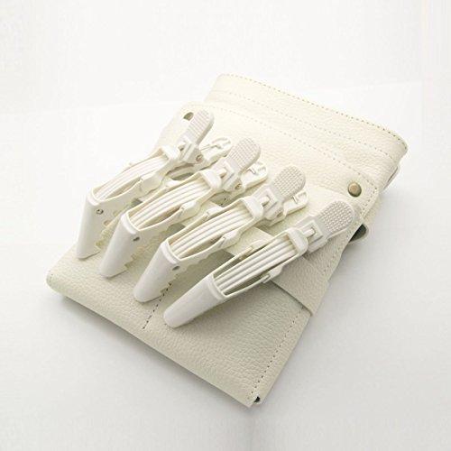 DEEDS C-0009 プロ用 ワニクリップ ホワイト 美容 クリップピン ヘアクリップ 美容小物