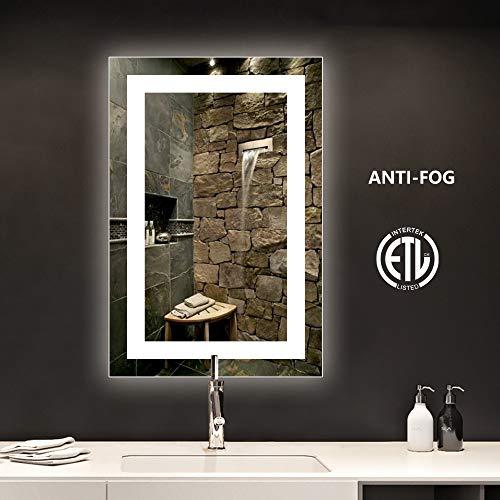 smartrun LED Bathroom Vanity Mirror with Anti-Fog Function, Bright White Light, CRI -