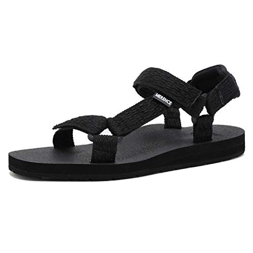 CIOR Women's Sport Sandals Hiking Sandals with Arch Support Yoga Mat Insole Outdoor Light Weight Water Shoes,U119SLX022-balck-40 Black