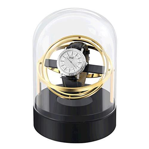 LRBBH Estuche para Relojes Enrollador Reloj Único para Caja Almacenamiento Colector Exhibición Se Puede Usar con Relojes Tanto para Hombres como para Mujeres Fácil Acceso (Color : Metal Layer Gold)