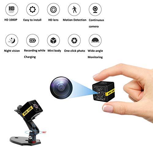Mini Spy Camera 1080P Versteckte Kamera Audio- Und Videoaufzeichnung Mit Nachtsicht- Und Bewegungserkennungssicherheit Für Zu Hause, Im Büro Und Im Freien