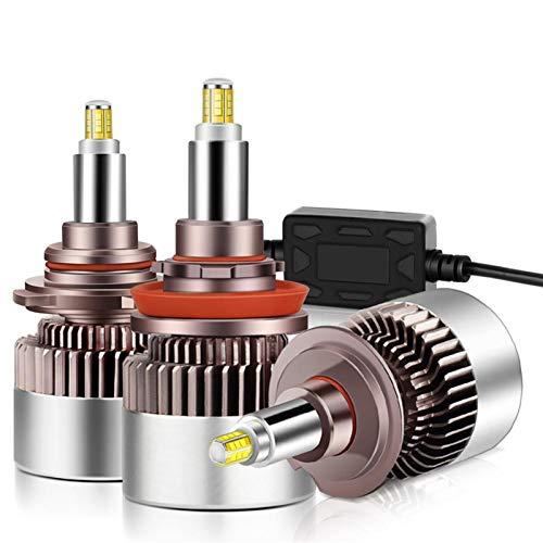 MCYAW 2pcs Upgrade 1000W 20000LM 3D LED H1 H7 H8 H11 9005 HB3 9006 HB4 9012 HIR2 Coche LED Bombillas de Faros con Chips de CSP Auto LÁMPARA 12V (Socket Type : H7)