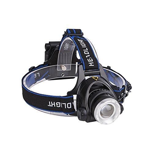 Gaoucnh Linterna frontal LED XM-L T6 3800 lúmenes de alto nivel impermeable foco ajustable 3 modos linterna para acampar senderismo pesca uso de emergencia