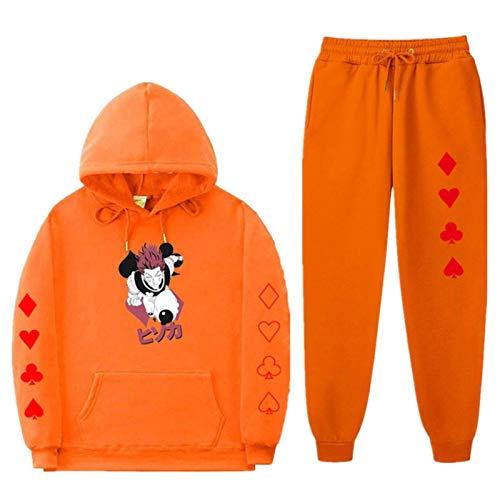 Japanese Anime Hunter X Hunter Print Men's Sportswear Sets Autumn Winter Hoodies Tracksuit Sweatshirt + Sweatpants Track Suit