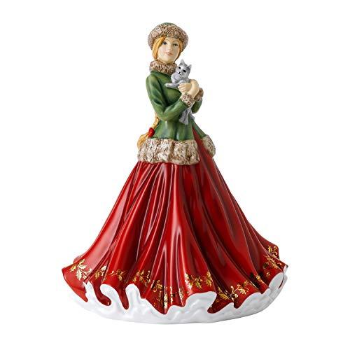 Royal Doulton Christmas Annuals 2020 Figura di Natale dell'anno 2020-Dolcetto Natalizio, Porcellana, Multi, 22 cm