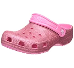 Glitter Shoes for Girls Slip On Shoes 13 US Little Kid Crocs Kids Classic Glitter Clog Lapis
