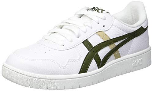 ASICS Men's Japan S White/Smog Green Sneakers-8 UK (42.5 EU) (9 US) (1191A212)