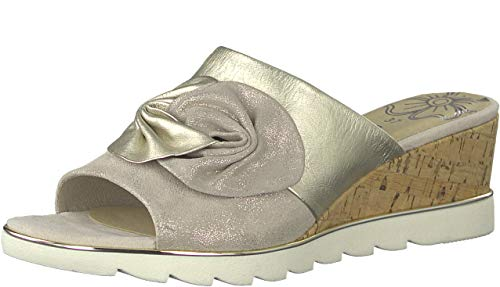 MARCO TOZZI Sandsend Womens Wedge Heel Sandals 38 EU 447. Dune with Combi