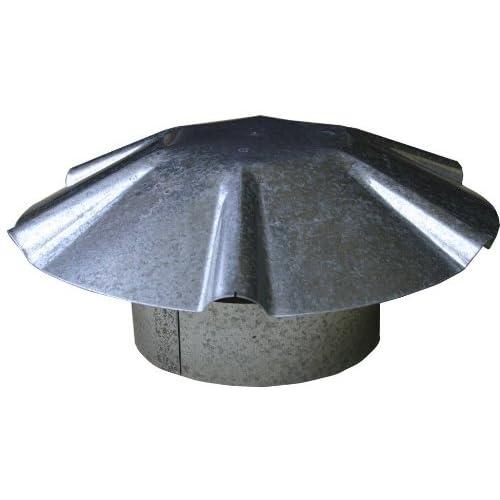 Speedi-Products EX-RCGU 04 4-Inch Diameter Galvanized Umbrella Roof Vent Cap 293f4309e099