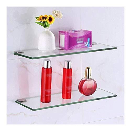 ZWJ Frame van gehard glas voor douchecabine Caddy Tidy Frame voor vaste muren, waterdicht voor woonkamer, slaapkamer, keuken, badkamer, IM