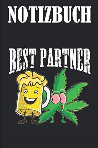 NOTIZBUCH: Lustiges Bier THC Gras Marihuana Geschenk |liniertes Notizbuch A5, 120 Seiten, Notizblock, Deutschheft, Schreibheft, Schulheft, Tagebuch