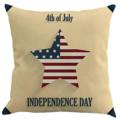 OPAKY Independence Day Linen Creative Kissenbezug Kissenbezug Car Pillow Cover