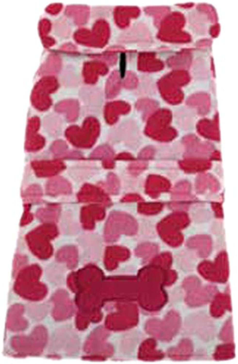East Side Collection Heart Fleece Jacket for Dogs, XXLarge, Pink