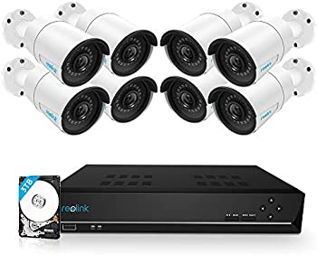 Reolink 16CH 5MP PoE Home Security Camera System with 3TB HDD