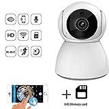 LNDDP 1080P WiFi Cámara IP Monitor inalámbrico para bebés, Seguimiento automático Detección Movimiento Vigilancia Cámara Seguridad P2P Visión Nocturna Cuidado del bebé Niñera Interior, 100WPx