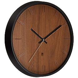 Umbra Madera Wall Clock, Walnut/Black