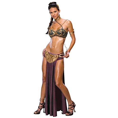 Star Wars Prinzessin Leia 5-TLG. Sci-Fi Damen Kostüm Sklavin lizenziert - L