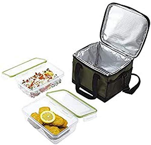 Jata Hogar Take Away Bolsa térmica Porta Alimentos, Verde Oscuro, 0 cm