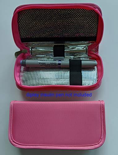 Medicine/Diabetes Insulin Pen Travel Cooler Case-(Pink)