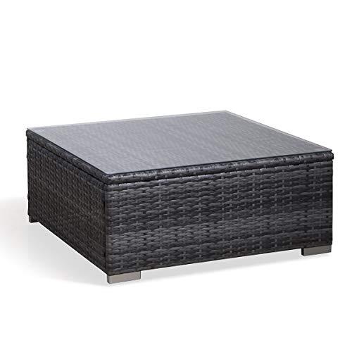 SVITA Lugano Poly Rattan Lounge Garten-Set XXL Sofa-Set Garnitur Gartenmöbel Couch-Set (XXL, Grau) - 5