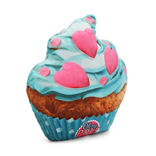 Oh My Pop Pop! Cupcake II-Pillow Cushion (Large) Reisekissen, 35 cm, Blau (Blue)