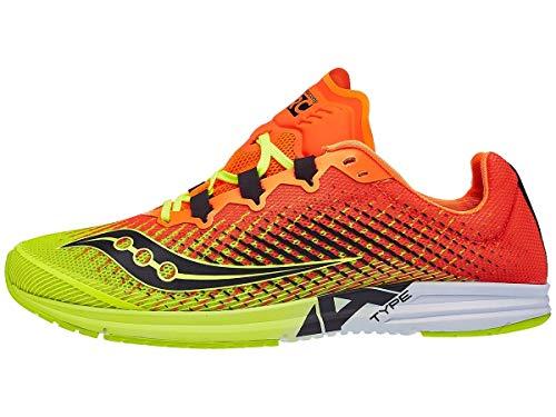 Saucony Type A9 Men's Running Shoe, Citron/Orange, 10.5 Medium