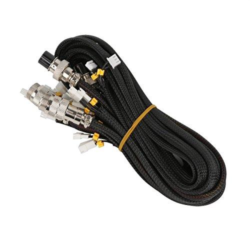 TOOGOO Kits de cable de extension para Creality CR-10 CR-10S CR-10 400 CR-10 500 Series Impresora 3D -1 Metros