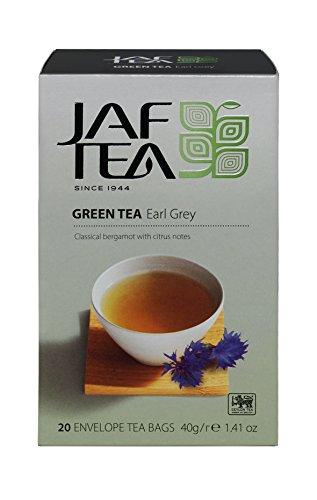 JAF TEA Grüner Tee - Earl Grey - 20 Teebeutel