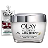 Olay Regenerist Collagen Peptide 24 Face Moisturizer with Vitamin B3, Fragrance Free, 1.7 Oz + Whip Face Moisturizer, Mothers Day Gift Set