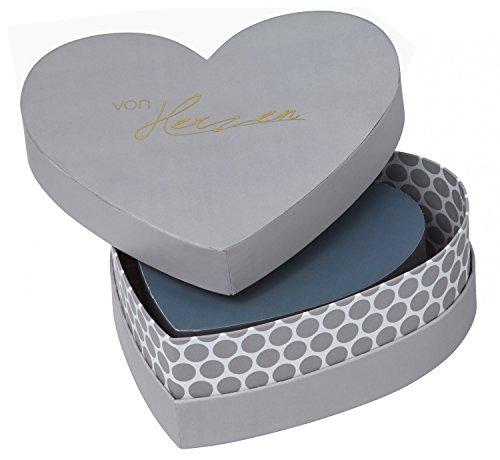 Unbekannt Räder - HERZSTÜCKE - Herzbox - Geschenkverpackung - Dekobox - Herzform - 3 er Set