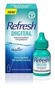 Refresh Digital Lubricant Eye Drops For Dry Eyes 0.34 Fl Oz Sterile