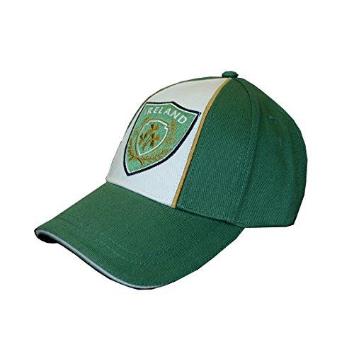 Traditional Craft Ltd. Green/Cream Ireland Badge Baseball Cap