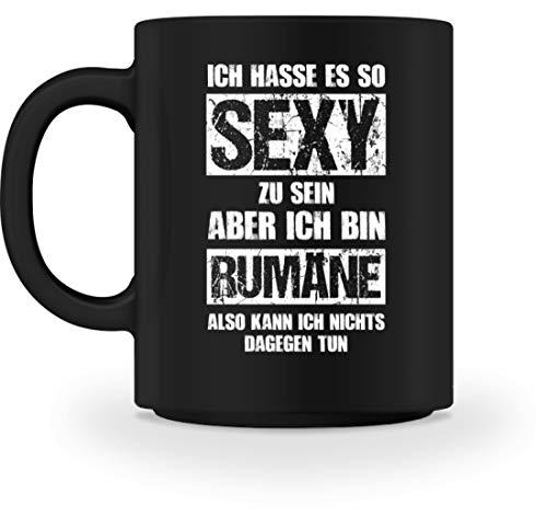 shirt-o-magic Rumänien: Sexy Rumäne - Tasse -M-Schwarz