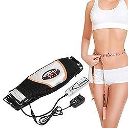 Jonlaki Waist Massager, Electric Vibrating Massager Slimming Belt Weight Lose Magnet Belt Fat Burner Body Shake Belt Lose Weight Shake Belt Waist Trainer Belly Vibro Shape Vibrating Heating Belt