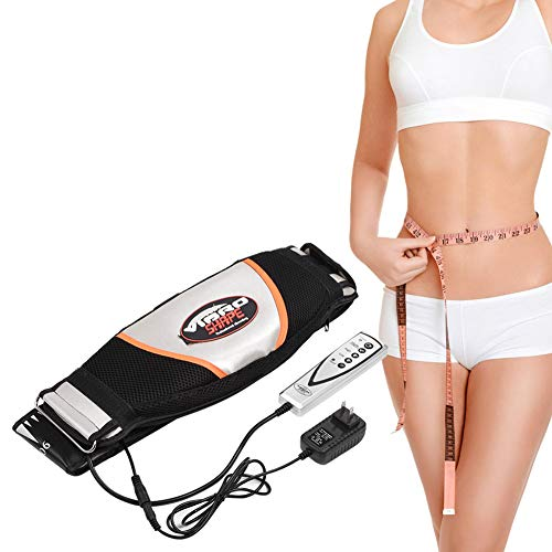 Waist Massager, Electric Vibrating Massager Slimming Belt Weight Lose Magnet Belt Fat Burner Body Shake Belt Lose Weight Shake Belt Waist Trainer Belly Vibro Shape Vibrating Heating Belt