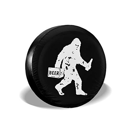 Drunk Bigfoot Beer Tire Covers Spare Tire Cover Fit Truck Jeep SUV ect