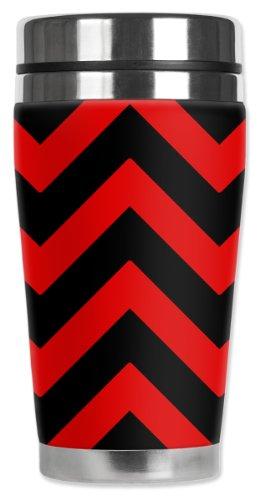 Mugzie® Marque Mug de voyage isotherme avec combinaison Coque – Rouge Chevron