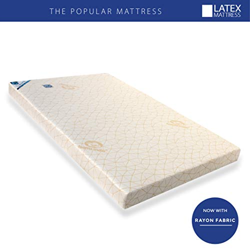 Foams India® 100% Natural Latex Foam®- Popular Mattress Multi Core Firm with one Latex Elegant Pillow Free(24 BEM Worth Rs.1540) Size-75 * 30 * 4 Inch