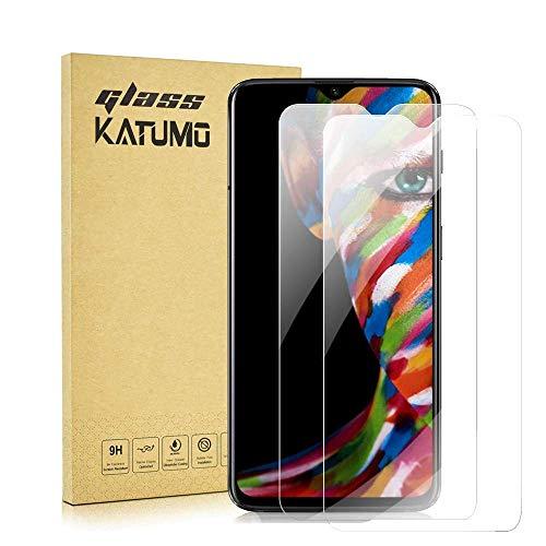 KATUMO [2 pezzi] Pellicola protettiva in vetro temperato per Oneplus 7, compatibile con Oneplus 6T / Oneplus 7T, durezza 9H, HD trasparente [2 pezzi]